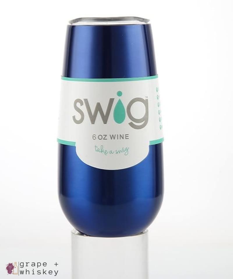 Swig Insulated Wine Flute Tumbler with lid - G-6oz - Grape and Whiskey