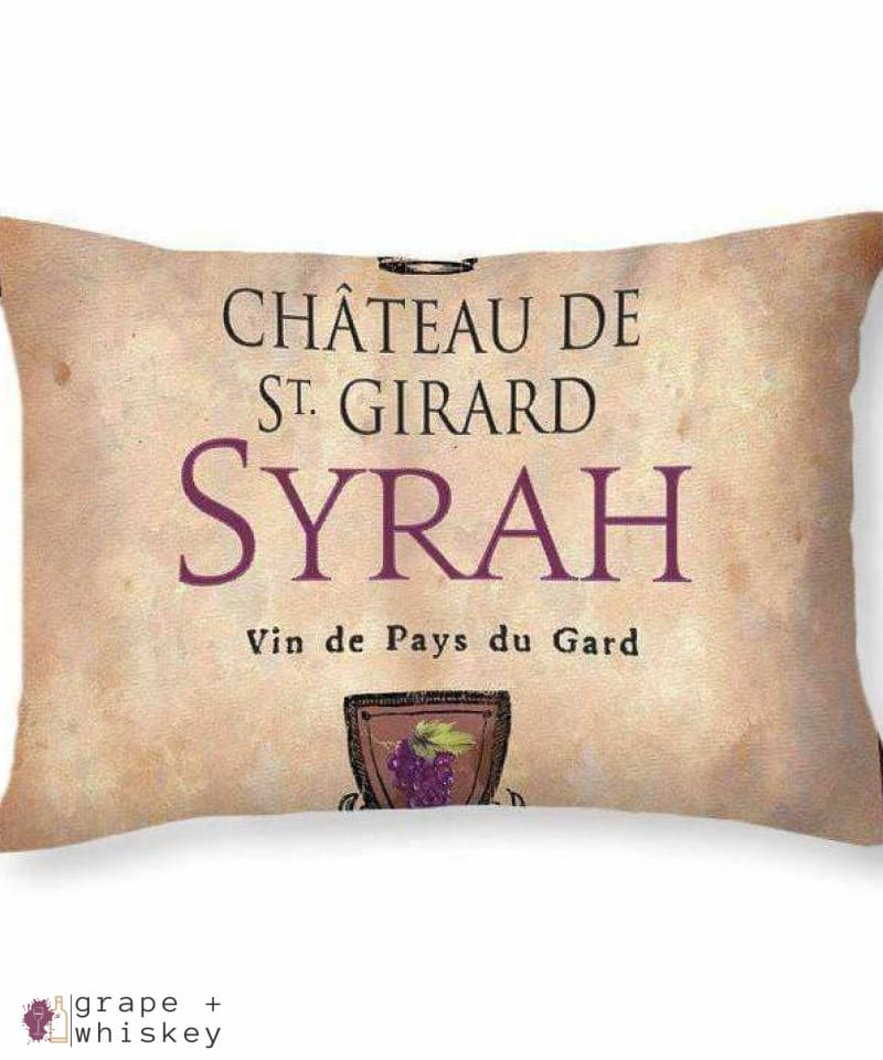 Syrah Throw Pillow - Grape + Whiskey - grapeandwhiskey.com