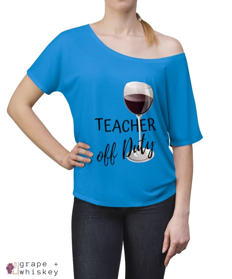 Teacher Off Duty Women's Slouchy top - Grape + Whiskey - grapeandwhiskey.com