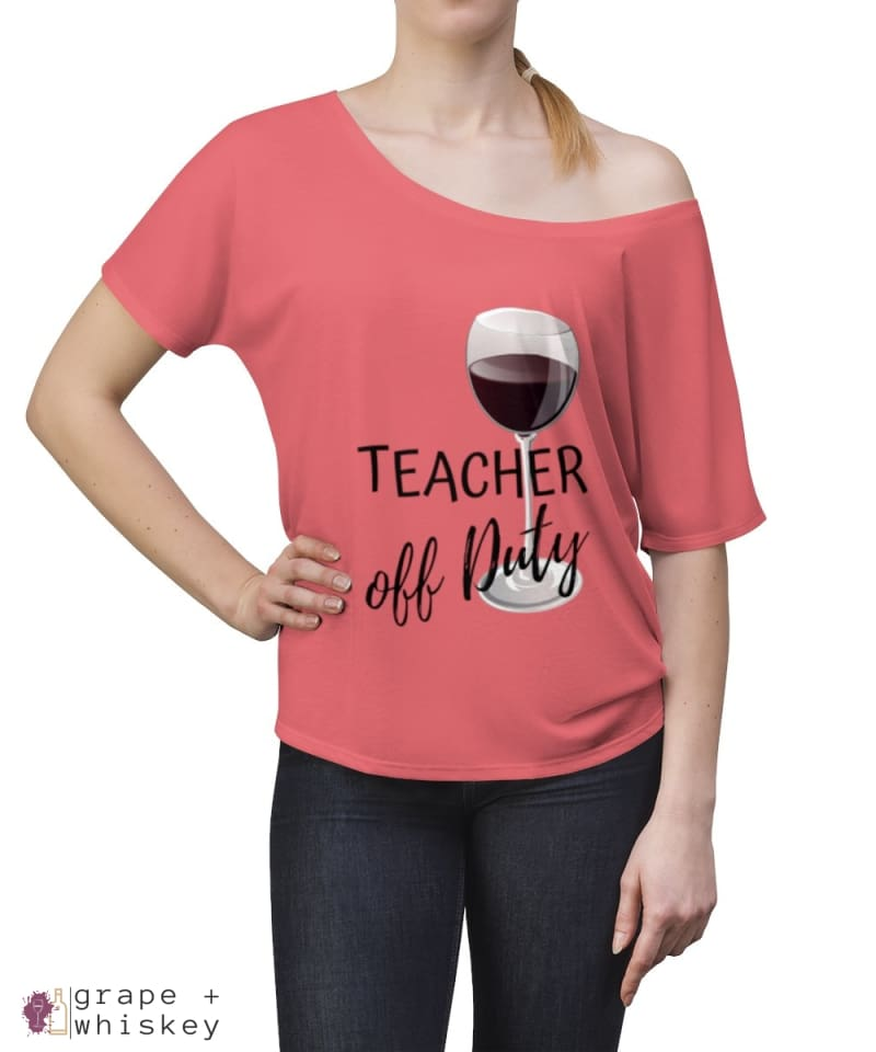 Teacher Off Duty Women's Slouchy top -  - Grape and Whiskey