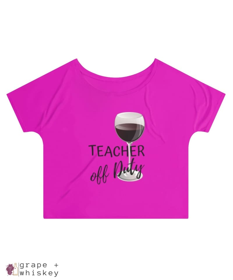 Teacher Off Duty Women's Slouchy top - 2XL / Berry - Grape and Whiskey