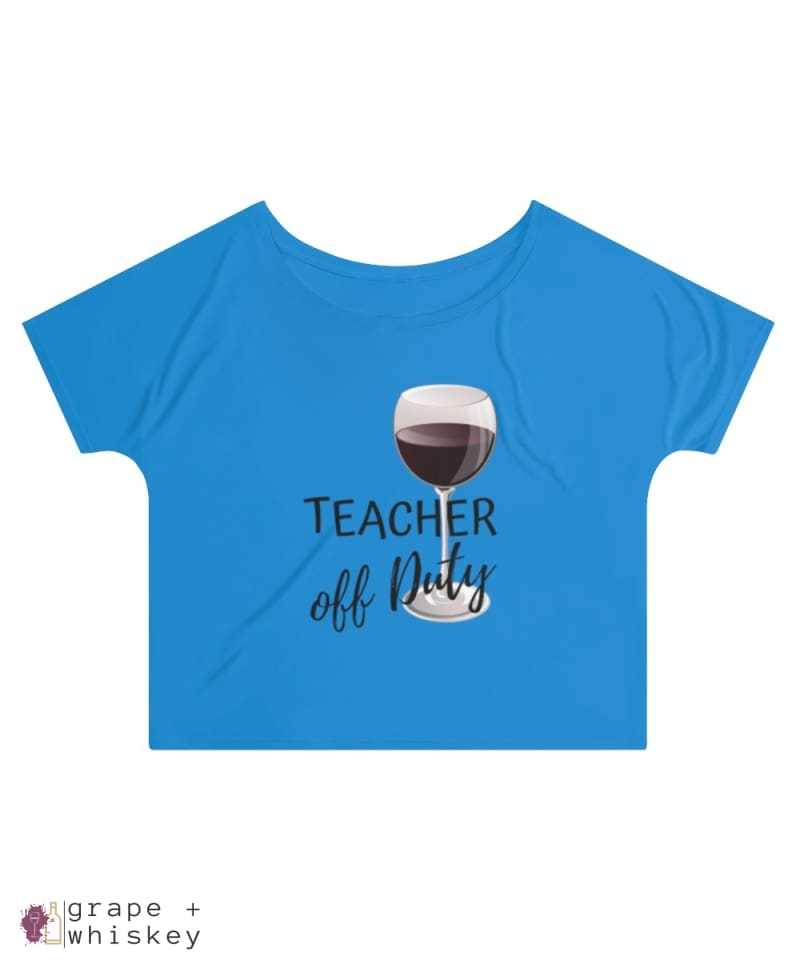 Teacher Off Duty Women's Slouchy top - 2XL / True Royal - Grape and Whiskey