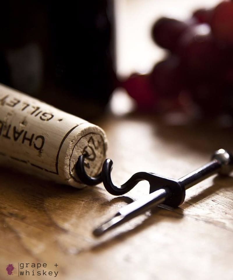 """The Corkscrew Key"" - Wine Pocket Multi-Tool -  - Grape and Whiskey"