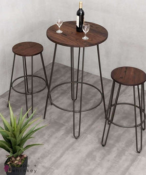 Three Piece Bistro Bar Table Set -  - Grape and Whiskey