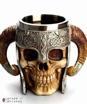 Viking Horned Warrior Beer Stein -  - Grape and Whiskey