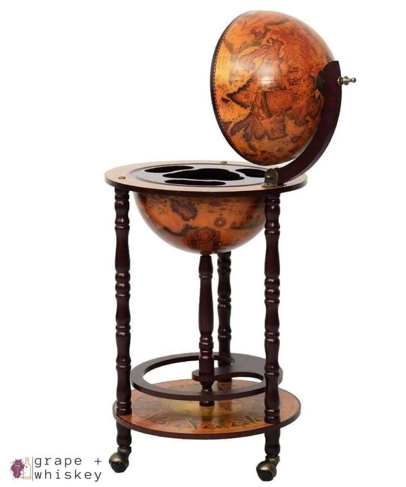 Vintage Globe Wine Stand (Bar) - Default Title - Grape and Whiskey