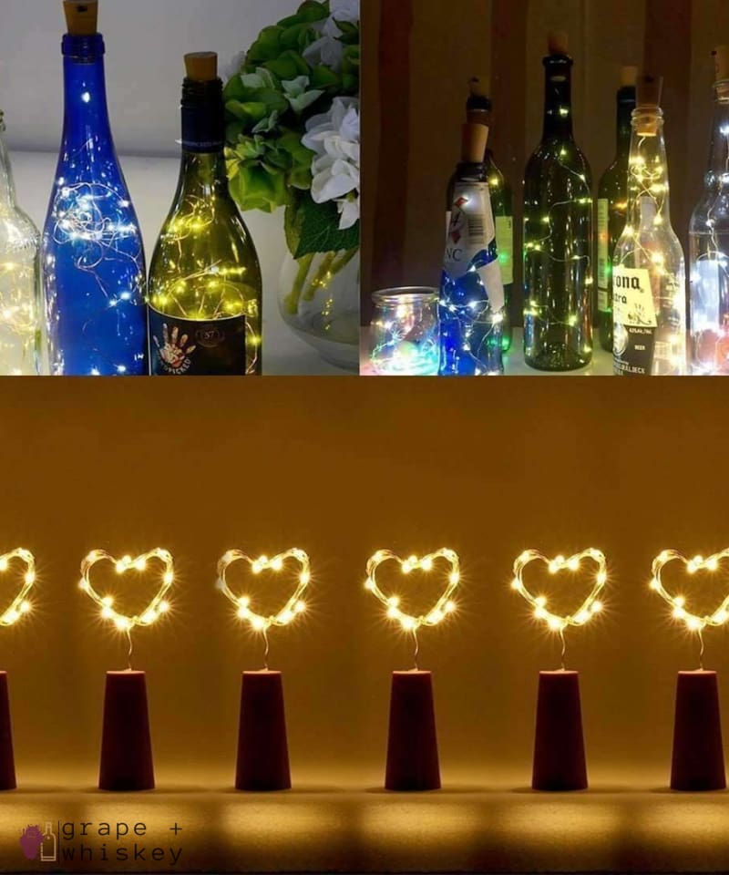 Waterproof Wine Bottle LED Lights (Pack of 6) - Default Title - Grape and Whiskey