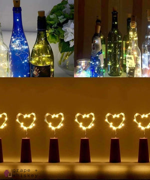 Waterproof Wine Bottle LED Lights (Pack of 6) - Grape + Whiskey - grapeandwhiskey.com