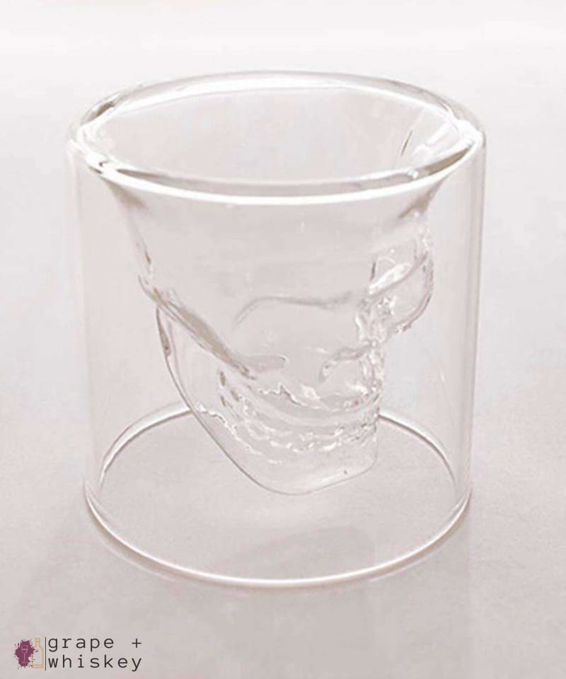 Whiskey Skull Glass -  - Grape and Whiskey