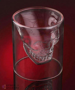 Whiskey Skull Glass - Grape + Whiskey - grapeandwhiskey.com