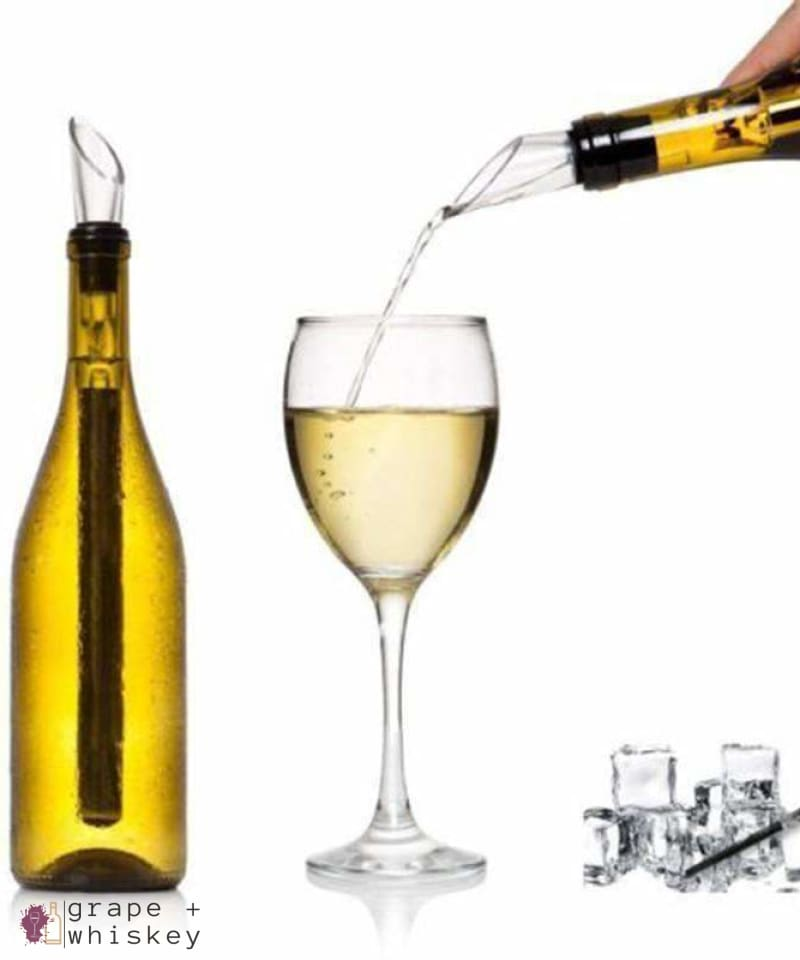 Wine Chiller Stick with Pourer - Grape + Whiskey - grapeandwhiskey.com