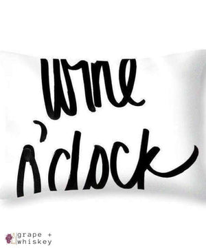 "Wine O'clock Throw Pillow - 20"" x 14"" / No - Grape and Whiskey"