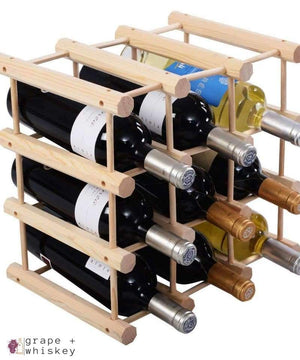 Wine Rack for 12 Bottles -  - Grape and Whiskey