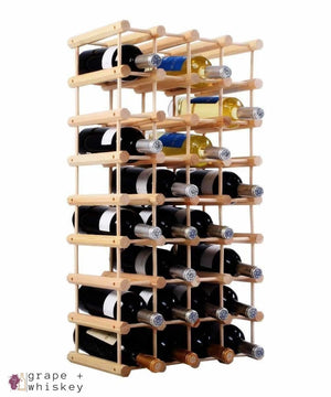 Wooden Wine Holder Bottle Rack for 40 Bottles - Default Title - Grape and Whiskey