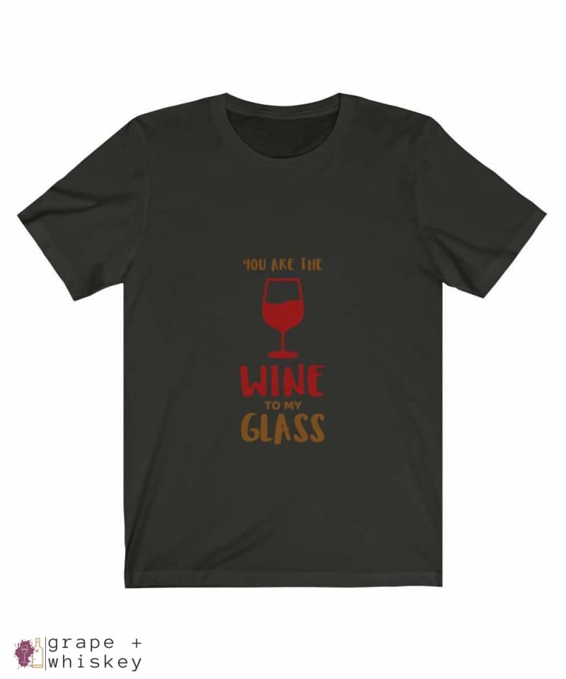 """You are the Wine to my Glass"" Short Sleeve Tee - Vintage Black / 3XL - Grape and Whiskey"