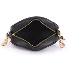 Load image into Gallery viewer, Phive Rivers Women's Leather Black Crossbody Bag