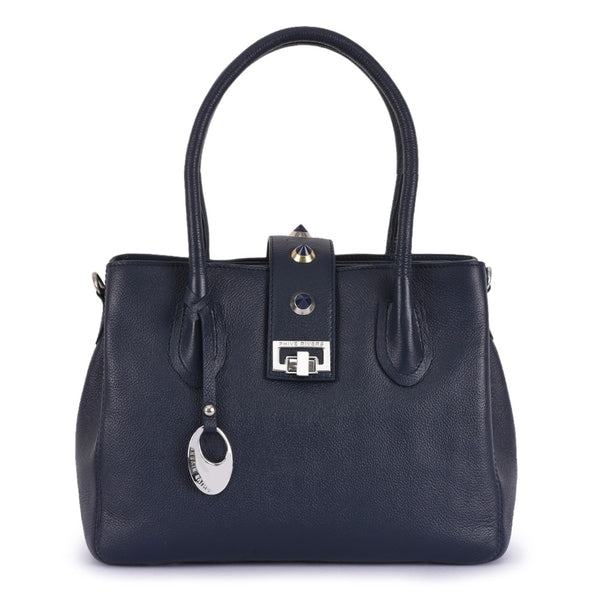 Phive Rivers Women's Leather Navy Handbag