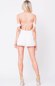 Off Shoulder Elastic Waist Jumpsuit