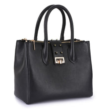 Load image into Gallery viewer, Phive Rivers Women's Leather Black Handbag