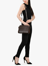 Load image into Gallery viewer, Phive Rivers Women's Leather Crossbody Bag  (Brown_PR537)