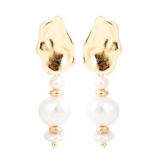 Teah Muse Baroque Pearl Drop Earrings