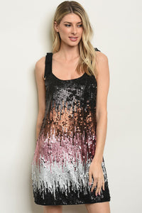 Multi Color With Sequins Dress