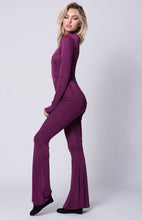 Load image into Gallery viewer, Long Sleeve Keyhole Solid Jumpsuit