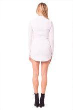 Load image into Gallery viewer, Long Sleeve Velvet Mini Dress