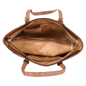 Phive Rivers Women's Leather Tan Handbag