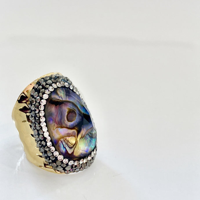 Dory Abalone Shield Ring