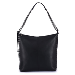 Phive Rivers Women's Leather Black Hobo Bag