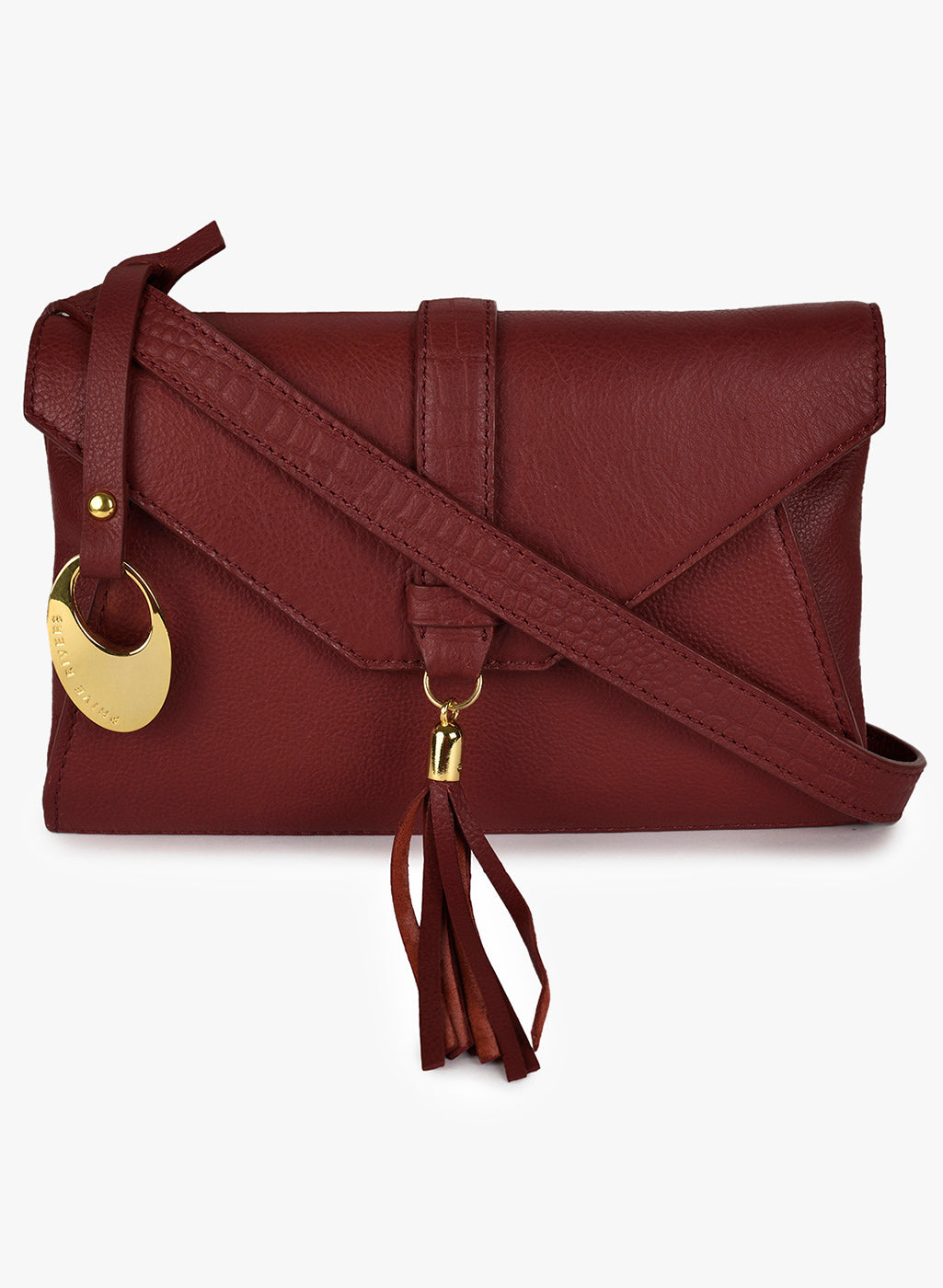 Phive Rivers Women's Leather Crossbody Bag  (Red_PR546)