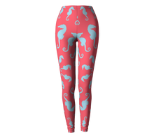 Load image into Gallery viewer, Seahorse Leggings - Coral Pink