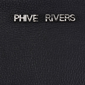 Phive Rivers Women's Leather Black Shoulder Bag