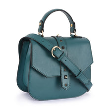 Load image into Gallery viewer, Phive Rivers Women's Leather Green Crossbody Bag