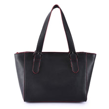 Load image into Gallery viewer, Phive Rivers Women's Leather Black Shoulder Bag