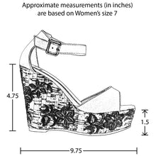 Load image into Gallery viewer, Embroidered Platform Wedge Sandal