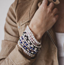 Load image into Gallery viewer, Jolie Pearl, Crystal & Gemstone Stacking Bracelets
