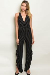 Womens Stripes Jumpsuit