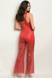 Womens Sequins Jumpsuit