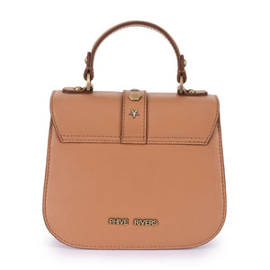 Phive Rivers Women's Leather Tan Crossbody Bag