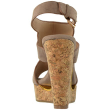 Load image into Gallery viewer, Slingback Peep Toe Platform Wedge Sandal