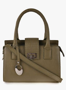 Phive Rivers Women's Leather HandBag (Green_PR536)