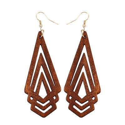 Boucles d'oreilles HOLLOW TRIANGLE