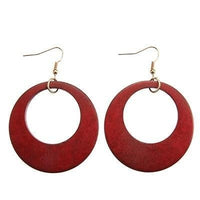Boucles d'oreilles BIG CIRCLE rouge