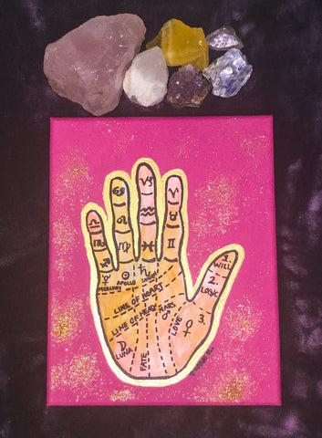 "Palmistry Art (10x8"" CANVAS)"