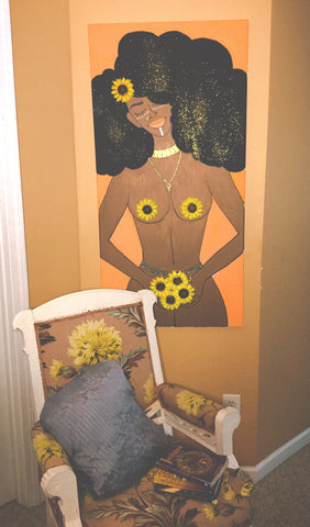 "Sunflower Queen (CANVAS 24x48"")"