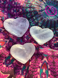 Heart-Shaped Rose Quartz Crystal Bowl (Reiki Infused)