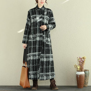 Women Flower Loose Coat Winter Retro Overcoat - Buykud
