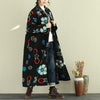 Women Plaid Loose Coat Winter Retro Overcoat - Buykud